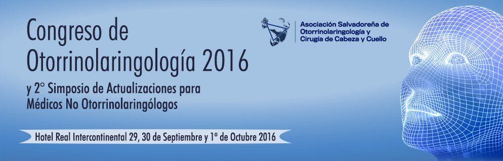 Afiche congreso de otorrinolaringología 2016